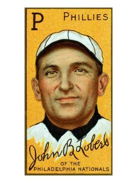Philadelphia, PA, Philadelphia Phillies, John Lobert, Baseball Card by Lantern Press