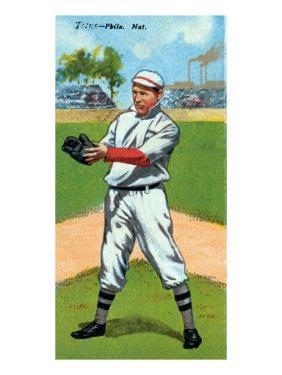 Philadelphia, PA, Philadelphia Phillies, John Titus, Baseball Card by Lantern Press