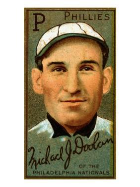 Philadelphia, PA, Philadelphia Phillies, Michael J. Doolan, Baseball Card by Lantern Press