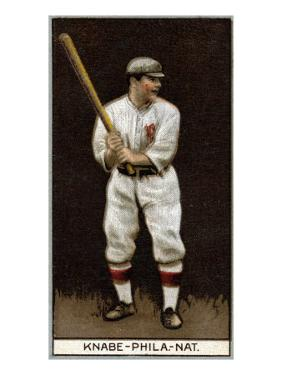 Philadelphia, PA, Philadelphia Phillies, Otto Knabe, Baseball Card by Lantern Press