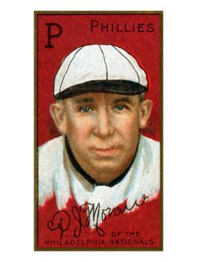 Philadelphia, PA, Philadelphia Phillies, Patrick J. Moran, Baseball Card by Lantern Press