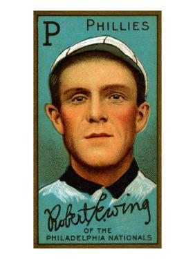 Philadelphia, PA, Philadelphia Phillies, Robert Ewing, Baseball Card by Lantern Press