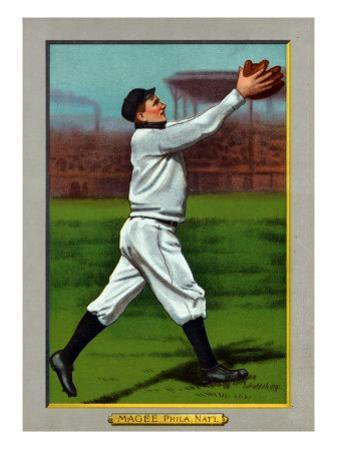 Philadelphia, PA, Philadelphia Phillies, Sherry Magee, Baseball Card by Lantern Press