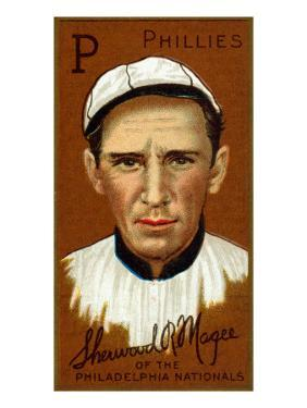Philadelphia, PA, Philadelphia Phillies, Sherwood R. Magee, Baseball Card by Lantern Press