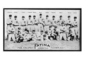 Philadelphia, PA, Philadelphia Phillies, Team Photograph, Baseball Card by Lantern Press