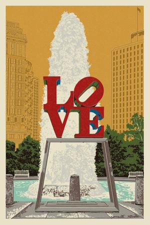 Philadelphia, Pennsylvania - Love Statue by Lantern Press