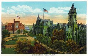 Philadelphia, Pennsylvania - University of Pennsylvania Campus by Lantern Press