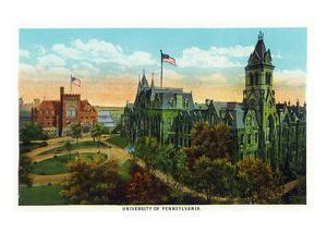 Philadelphia, Pennsylvania - University of Pennsylvania Campus by Lantern Press