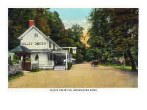 Philadelphia, Pennsylvania - Valley Green Inn, Wissahickon Drive Scene by Lantern Press