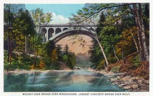 Philadelphia, Pennsylvania - Walnut Lane Bridge over Wissahickon River by Lantern Press