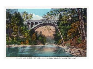 Philadelphia, Pennsylvania - Walnut Lane Bridge over Wissahickon River by Lantern Press