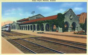 Phoenix, Arizona - Union Depot Exterior View by Lantern Press