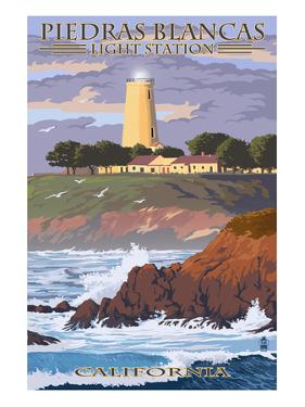 Piedras Blancas Light Station - California by Lantern Press