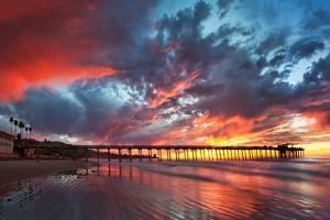 Pier and Sunset by Lantern Press