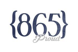 Pigeon Forge, Tennessee - 865 Area Code (Blue) by Lantern Press