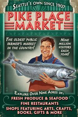 Pike Place Market - Seattle, Washington by Lantern Press