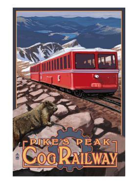 Pikes Peak Cog Railway - Swiss Locomotive, c.2008 by Lantern Press