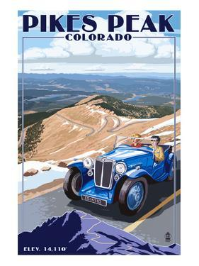 Pikes Peak, Colorado - Auto Road Scene by Lantern Press