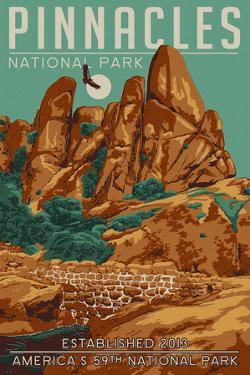 Pinnacles National Park - WPA Formations and Condor by Lantern Press