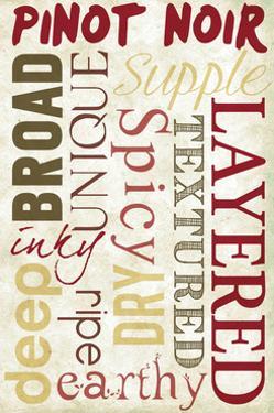 Pinot Noir Typography by Lantern Press