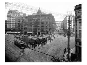 Pioneer Square Panoramic View - Seattle, WA by Lantern Press