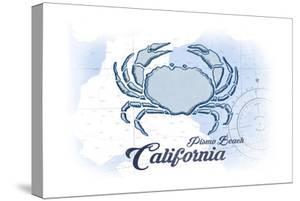 Pismo Beach, California - Crab - Blue - Coastal Icon by Lantern Press