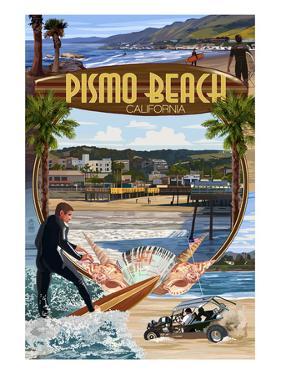 Pismo Beach, California - Montage Scenes by Lantern Press