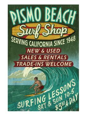 Pismo Beach, California - Surf Shop by Lantern Press