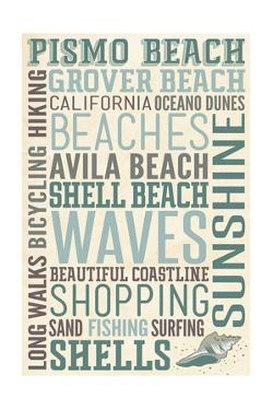 Pismo Beach, California - Typography by Lantern Press