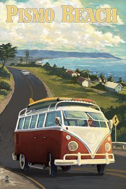 Pismo Beach, California - VW Coastal Drive by Lantern Press
