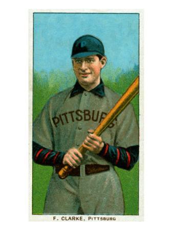 Pittsburgh, PA, Pittsburgh Pirates, F. Clark, Baseball Card by Lantern Press