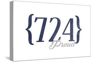 Pittsburgh, Pennsylvania - 724 Area Code (Blue) by Lantern Press