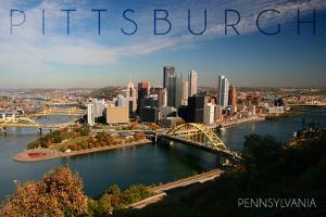 Pittsburgh, Pennsylvania - Autumn Scene by Lantern Press