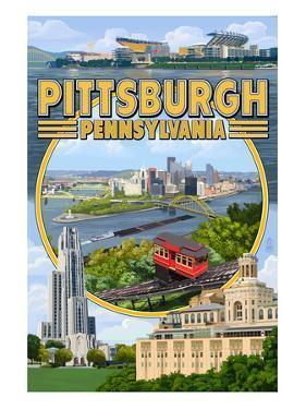 Pittsburgh, Pennsylvania - Montage Scenes by Lantern Press