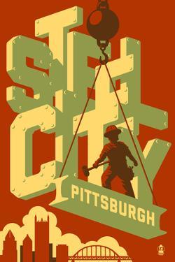 Pittsburgh, Pennsylvania - Steel City by Lantern Press