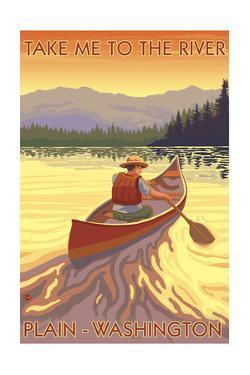 Plain, Washington - Canoe Scene by Lantern Press