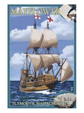 Plymouth, Massachusetts - Mayflower by Lantern Press
