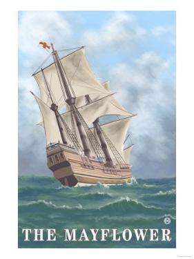 Plymouth, Massachusetts - View of the Mayflower by Lantern Press
