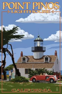 Point Pinos Lighthouse - Monterey, California by Lantern Press