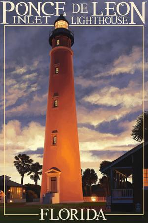 Ponce De Leon Inlet Lighthouse, Florida - Morning Scene by Lantern Press