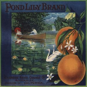Pond Lily Brand - Riverside, California - Citrus Crate Label by Lantern Press