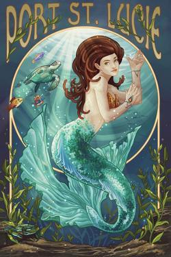 Port St. Lucie, Florida - Mermaid by Lantern Press
