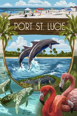 Port St. Lucie, Florida - Montage by Lantern Press