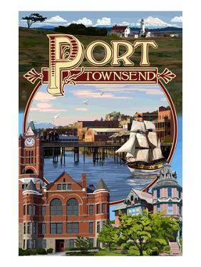 Port Townsend, Washington - Montage Scenes by Lantern Press
