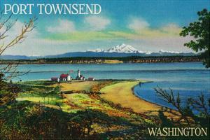 Port Townsend, Washington - Mt. Baker View by Lantern Press