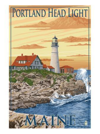 Portland Head Light - Portland, Maine by Lantern Press