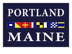 Portland, Maine - Nautical Flags by Lantern Press