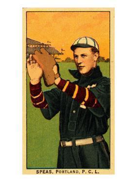 Portland, OR, Portland Pacific Coast League, Speas, Baseball Card by Lantern Press
