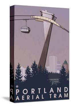 Portland, Oregon - Aerial Tram Scene by Lantern Press