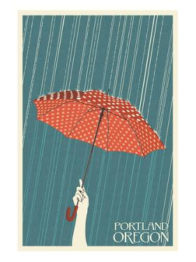 Portland, Oregon - Umbrella by Lantern Press